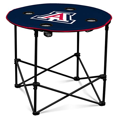 Arizona Wildcats Collapsible Round Table with 4 Cup Holders and Carry Bag