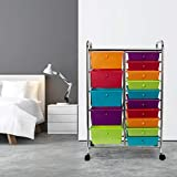 Seville Classics 15-Drawer Multipurpose Mobile