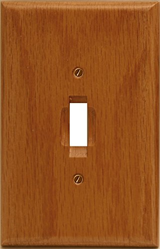 (Runwireless Traditional Light Oak Wood, Switch plate, Wall plate, Cover _ 4-430T)