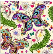 TianMai Hot New DIY 5D Diamond Painting Kit Crystals Diamond Embroidery Rhinestone Painting Pasted Paint By Number Kits Stitch Craft Kit Home Decor Wall Sticker - Colorful Butterfly, 35x35cm (Number By Kits Mural Paint Wall)