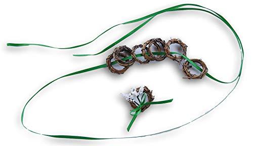 - Tiny Grapevine Natural Miniature Wreath - 1 Inch Diameter - Set of 8