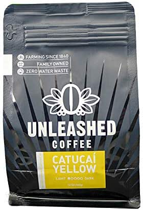 Unleashed Catucai Yellow Gourmet Coffee Premium Arabica Light Roast Whole Bean Fair Trade From The Farmer