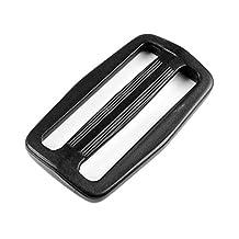 """2"""" Plastic Black Slider Triglide Adjust Buckles for Backpack Strap"""