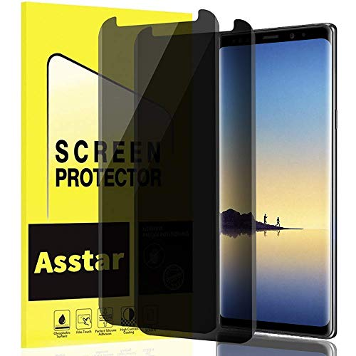 Asstar Privacy Screen Protector for Galaxy Note 8 , Tempered Glass Anti-Scratch No Bubble Case Friendly Easy Install 9H Hardness  Screen Protector Compatible with Sumsang Galaxy Note 8 (2 Pack)