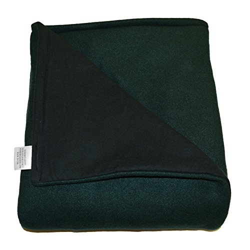 SENSORY GOODS Child - Deluxe - Made in America - Small Weighted Blanket 5lb Medium Pressure-Forest Green-Fleece/Flannel (52