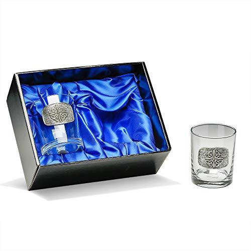 Trinity Knot Irish Whiskey Glasses Quadruple Trinity Set of Two Made in -