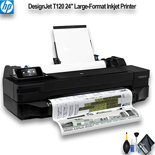 "HP DesignJet T120 24"" Large-Format Inkjet Printer (CQ891BB1K) Essential Bundle"