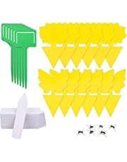 H HOME-MART 12 Pack Yellow Sticky Fruit Fly Trap and Fungus Gnat Traps Killer,Dual-Sided Gnat Trap Butterfly Flower Rectangle Glue Trapper Sticky Bug Trap Insect Catcher Sticky Board for Mosquitoes, Houseplant