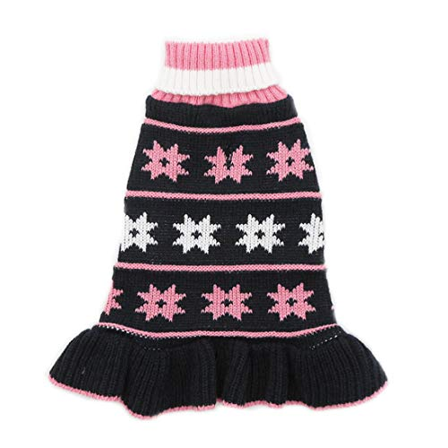 kyeese Dog Sweater Dress Turtleneck Dog Sweaters with Leash Hole for Large Dogs Knit Pullover Warm for Winter