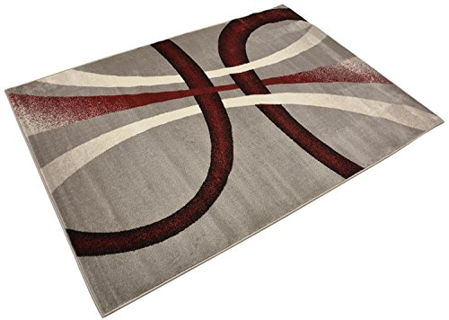 """RugStylesOnline Comfy Collection Stripes Geometric Modern Contemporary Area Rug, 39"""" L x 24"""" W, Grey"""
