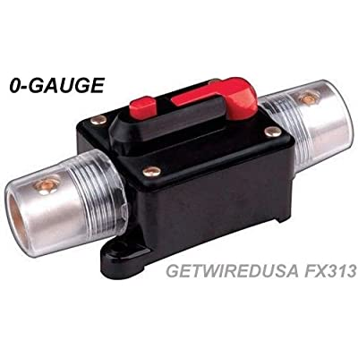 "0-GAUGE WIRE CIRCUIT BREAKER 500-AMP, 12-VOLT HEAVY DUTY INDUSTRIAL PRO CAR AUDIO / MARINE AGU IN-LINE FUSE HOLDER STYLE FITS 0 AWG CABLE 1/2"" HOLE. GETWIREDUSA FX313-500A: Car Electronics"