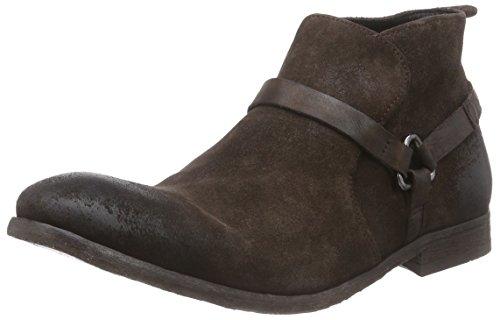 Hudson London Hague Herren Biker Boots Braun (Brown)