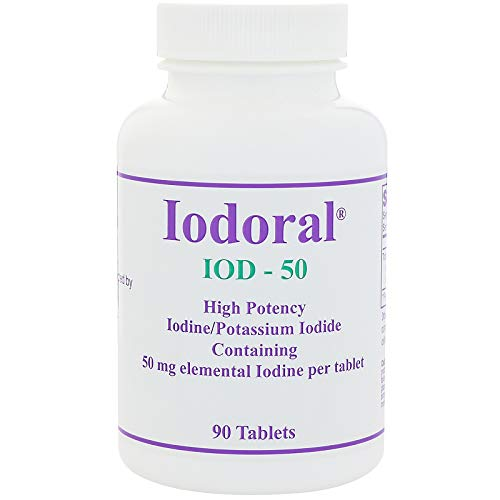 Iodoral Iod-50 High Potency Iodine/Potassium Iodide Tablets, 90 Count