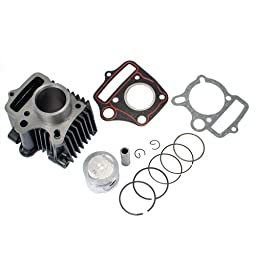 Max Motosports Cylinder Piston Assembly Kit for Honda Z50 Z50R XR50 CRF50 50CC Dirt Bike Pit Bike