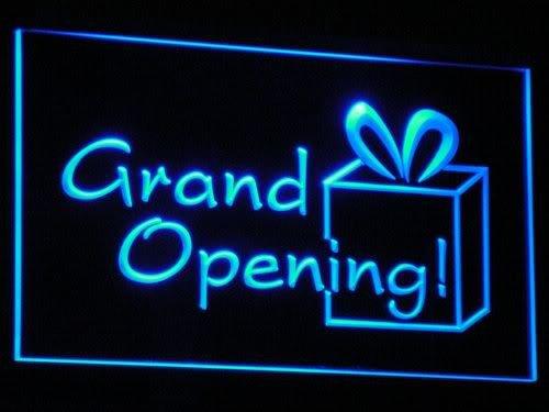 Cartel Luminoso ADV PRO i032-b Grand OPEN Shop Beer Bar Club ...