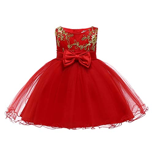 Cinderella Dress Princess Costume Halloween Party Dress up(Red,12M/73CM)