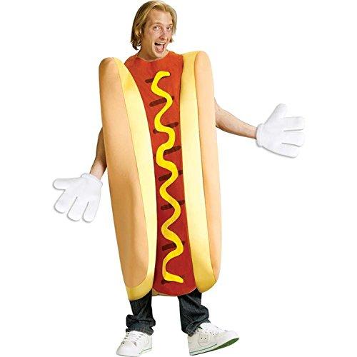 girl in hot dog costume