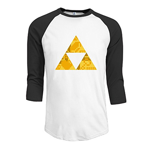 [BMW47' Men's Zelda Triforce Items Boys 3/4 Sleeve Raglan Tee T Shirt - Medium] (Ghana Costume For Boys)