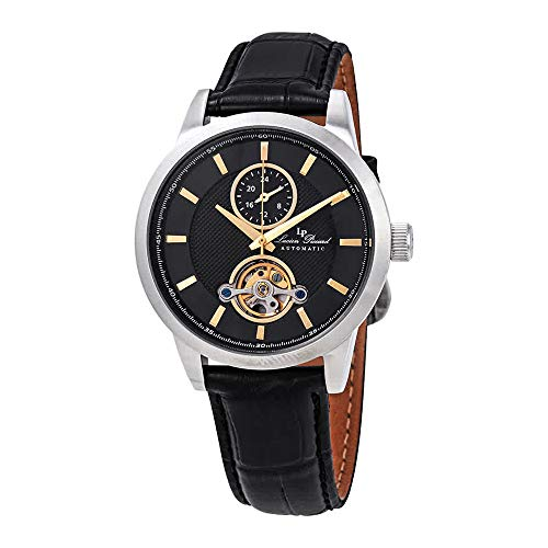 Lucien Piccard Open Heart GMT Automatic Black Dial Men's Watch LP-28007A-01-GA