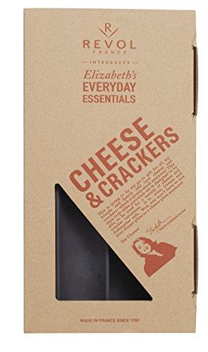 REVOL 646674 Elizabeth Karmel Cheese and Crackers Set, Matt Slate (Crudite Set)
