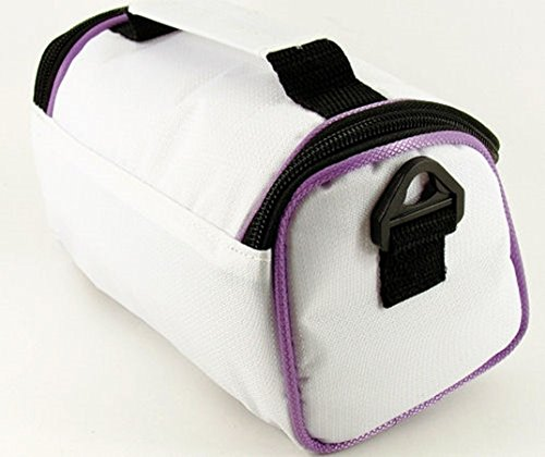 Cool al White Red Electric Purple Cool para Trims with TGC Blanco White Mujer Bolso Hombro Trims With Crimson 7vAxA0