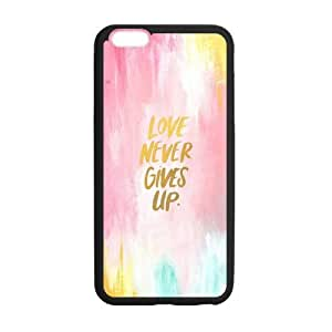 the Case Shop- Motto Never Give Up TPU Rubber Hard Back Case Silicone Cover Skin for iPhone 6 Plus 5.5 Inch , i6pxq-341