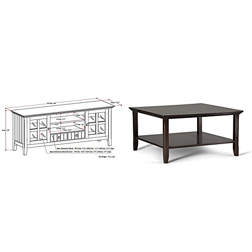 Simpli Home Acadian TV Media Stand for TVs up to 66
