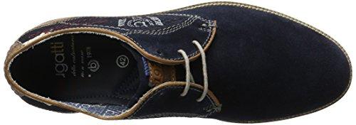 Bugatti 311256031400, Zapatos de Cordones Derby para Hombre Azul (Dark Blue 4100)