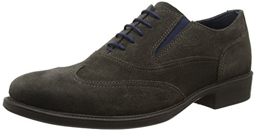 Zapatos H Mud Oxford Marrón de Carnaby Geox Cordones para Uomo Hombre EZWqnBwvt