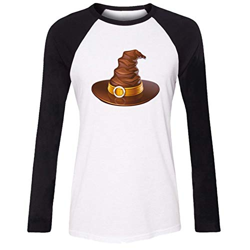 Women's T-Shirt Halloween Happy Cat Witch Hat Casual Top for $<!--$23.95-->