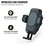 Scosche WDQ2M StuckUP Qi Window or Dash Mount Charger with Car Adapter and Type-C Cable for Mobile Devices