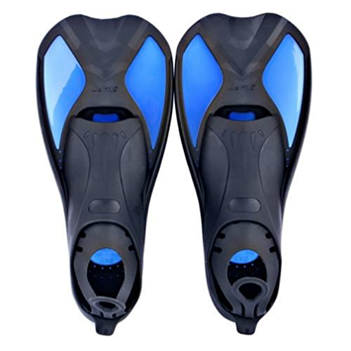 Swimming Flippers Diving Fins (Blue L) - 5