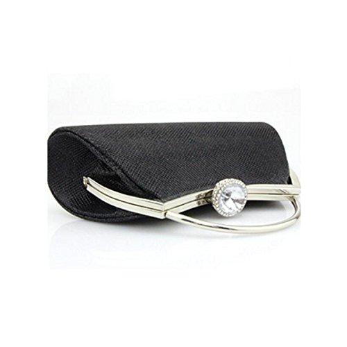 Sac Boucle Dames Portable Demoiselle Pack Chaîne Solide D'habillement D'honneur Diamant Black De Soirée Mariée 8r8FzxwRq