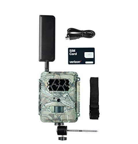 Spartan 4G LTE GoCam Wireless Trail Camera with Mount, Verizon Blackout Realtree Camo
