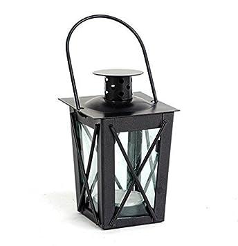 Amazonde Kleine Laterne Windlicht Für Teelicht Glas Metall
