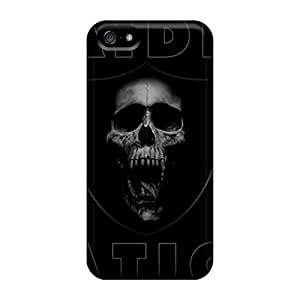 Quality Ashustom2o68 Cases Covers With Oakland Raiders Nice Appearance Compatible With Iphone 5/5s
