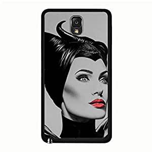 Classical Beauty Dinsney Film Maleficent Phone Case for Samsung Galaxy Note 3 N9005,Maleficent Pattern Customised Nice Samsung Galaxy Note 3 N9005 Phone Cover Case