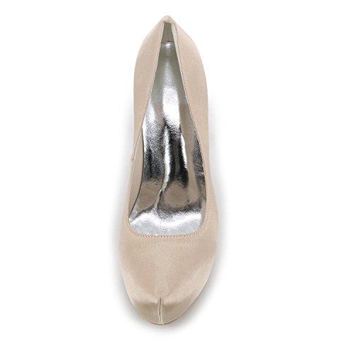 L@YC Women's High Heels Spring Summer Fall Winter Satin Wedding Party & Evening Stiletto Heel Blue Purple White Silver Red Champagne Purple m3WeW4o