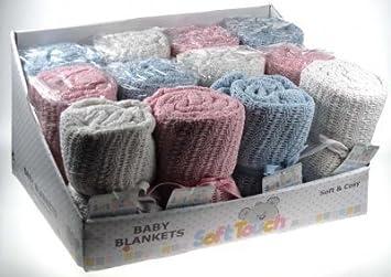 100% de bebé al por menor de algodón celular a carrito de paseo/(rosa) diseño de cerditos Bsket escudo de Fútbol Club Barcelona: Amazon.es: Bebé
