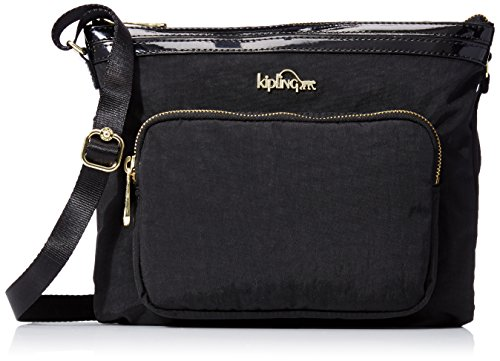 Kipling April Crossbody, Black Patent Combo by Kipling