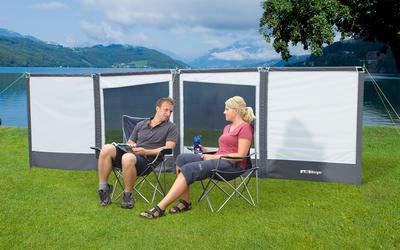 Berger Windschutz Deluxe, weiß, Breite 460 x Höhe 130 cm, cm, 130 Sichtfenstern, Wind- und Sichtschutz 67d7e6