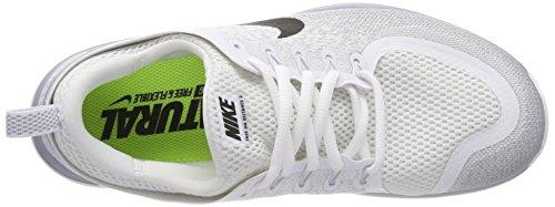 Nike Free RN Distance 2, Chaussures de Running Compétition Homme, Beige, 40 EU Blanc (Blanc/Grisloup/Platinepur/Noir)