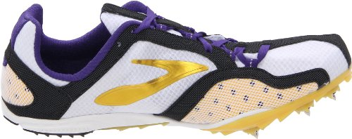Brooks Elmn8 W, Damen Sportschuhe - Running Weiß (White/Black/Gold)