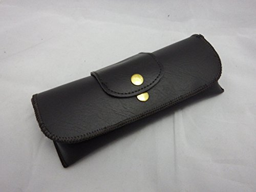 le Brown Double Snap Belt loop eyeglass case ()