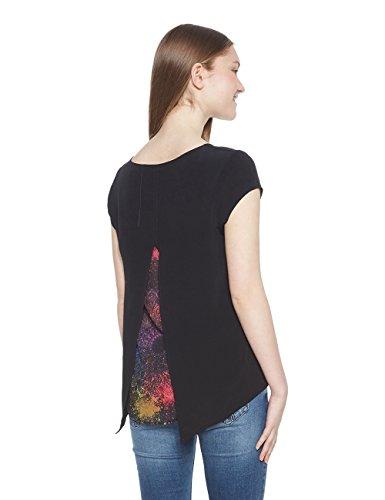 2000 Desigual Donna berlina negro Camicia Blus 11RT0q6