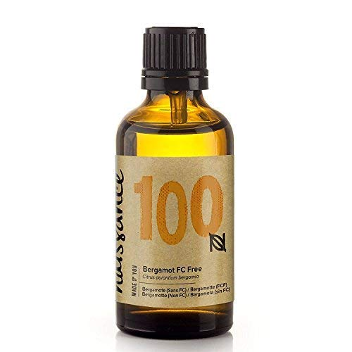 Naissance Bergamot (FC Free) Essential Oil 1.69 - Pure, Natural, Cruelty Free and Undiluted - for Use in Aromatherapy, Massage Blend & Diffusers - Energising and Uplifting