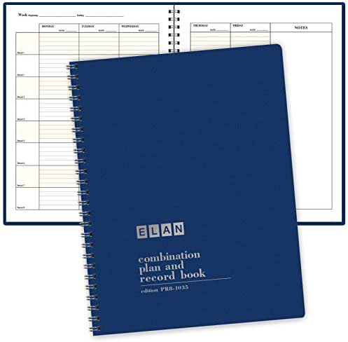 Combination Plan and Record Book - 8 Period Teacher Lesson Planner (PR8-1035)