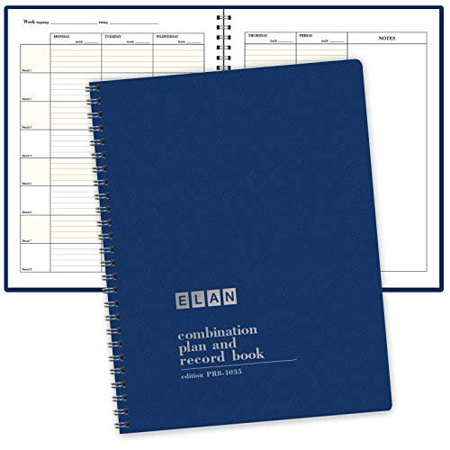 Combination Plan and Record Book - 8 Period Teacher Lesson Planner (PR8-1035)