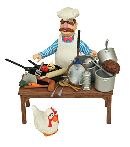 Diamond Select Toys The Muppets Swedish Chef & Food Select Action Figure (Beaker From Muppets)