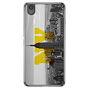 Loud Universe Oneplus X Cities New York Printed Transparent Edge Case - Grey